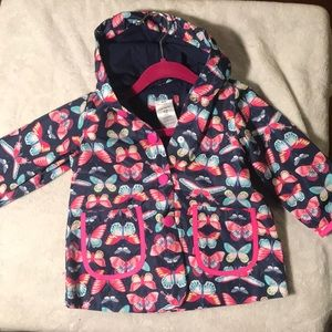 12 month carter's girl butterfly raincoat